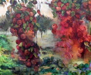 Bush Painting of Apple Orchard to Buy Online