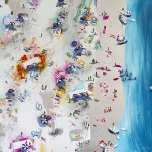 Bespoke Champagne Beach 1 Painting For Sale