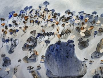 Painting of Winter Brumbies